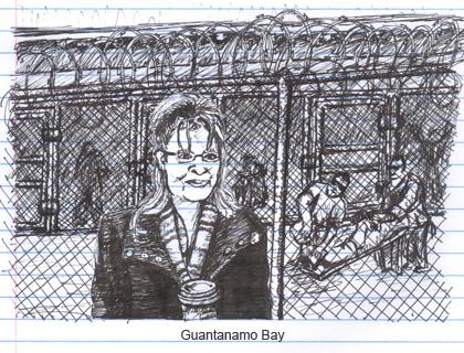 Sarah Palin interviews at Guantanamo Bay
