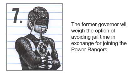 Rod Blagojevich becomes a Power Ranger to avoid jail time