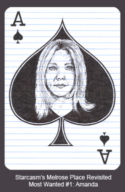 Heather Locklear as the Ace of Spades in the Starcasm Melrose Place Revisited Most Wanted card deck