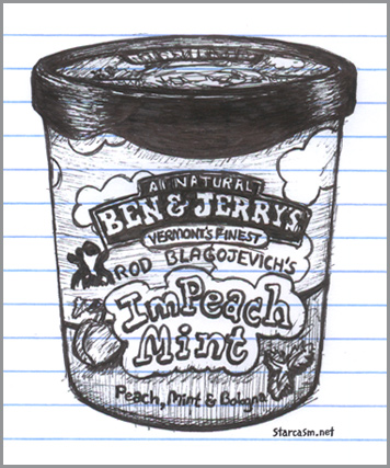 Rod Blagojevich gets his own Ben and Jerry's ice cream flavor