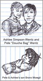 Ashlee Simpson Pete Wentz and Bronx Mowgli Wentz