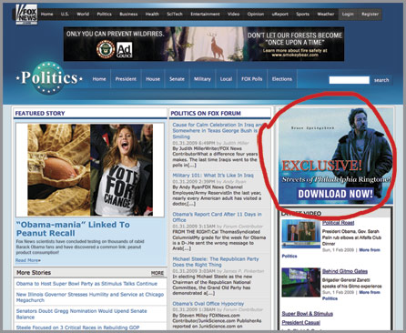 Exclusive Bruce Springsteen Streets of Philadelphia ringtone available from Fox News?