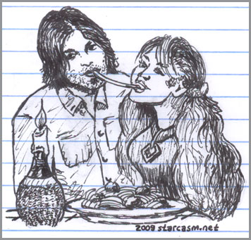 Miley Cyrus and Billy Ray Cyrus from The Lady and the Tramp
