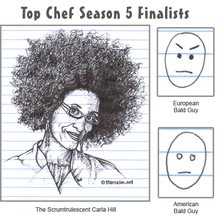 Top Chef finalists Carla Hill Stefan Richter and Hosea Rosenberg