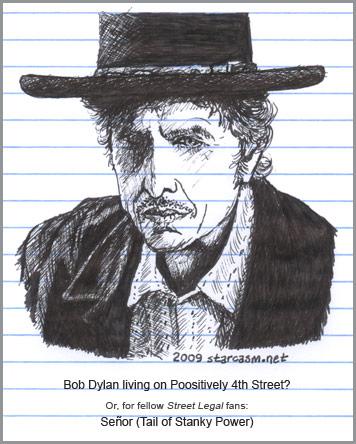 Bob Dylan's porta-potty is raising a stink