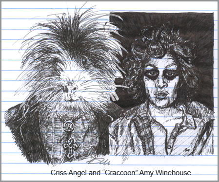 Potential rodential pairing of Criss Angel and craccoon Amy Winehouse