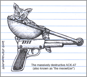 The meowitzer is the weapon of choice for Kenley Collins