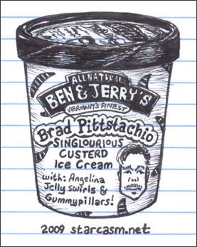 Ben and Jerry's flavor Brad Pittstachio for Brad Pitt