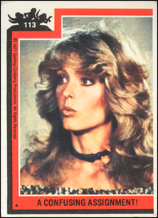 Farrah Fawcett trading card