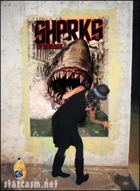 Jessica Alba promoting Sharks In Venice