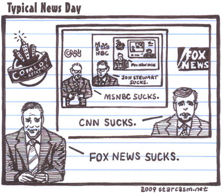 Typical News Day cartoon