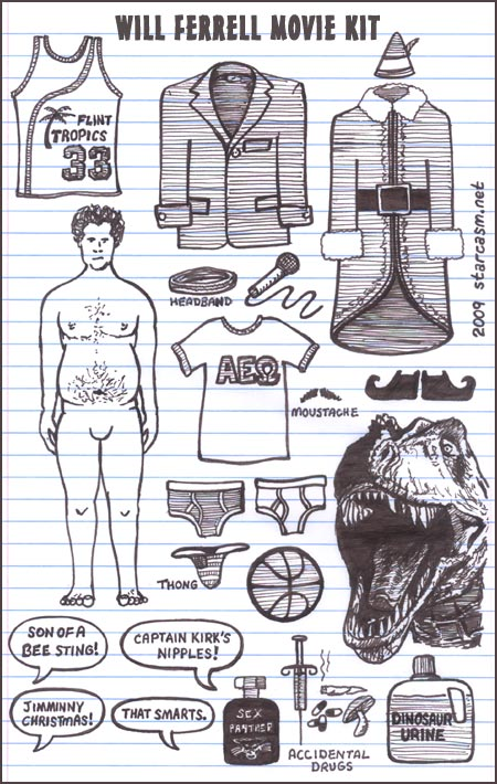Will Ferrell movie kit
