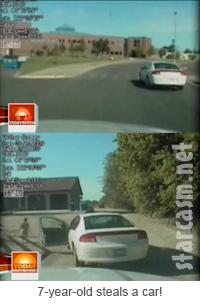 Utah 7 year old steals a car