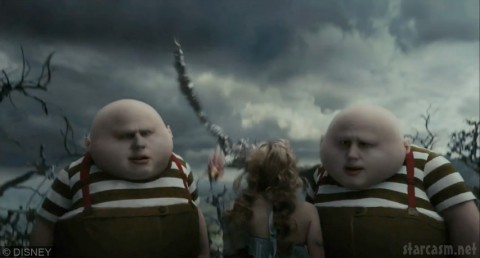 Tweedledee and Tweedledum from Alice in Wonderland by Tim Burton