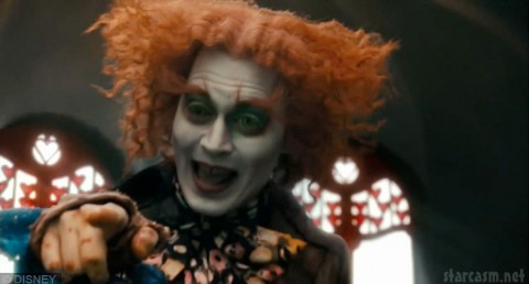 Johnny Depp as The Mad Hatter in Alice in Wonderland by Tim Burton