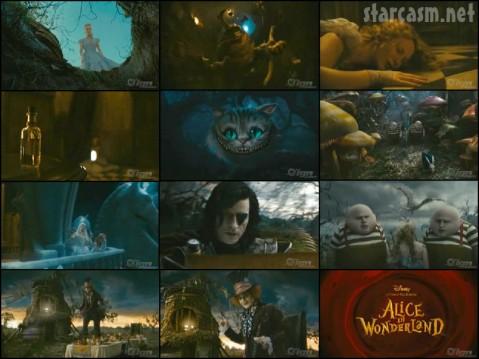 Tim Burton Alice in Wonderland trailer photos