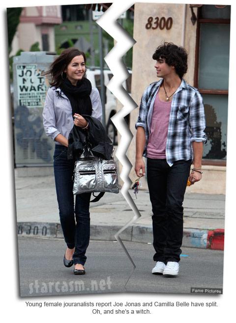 Joe Jonas and girlfriend Camilla Belle break up