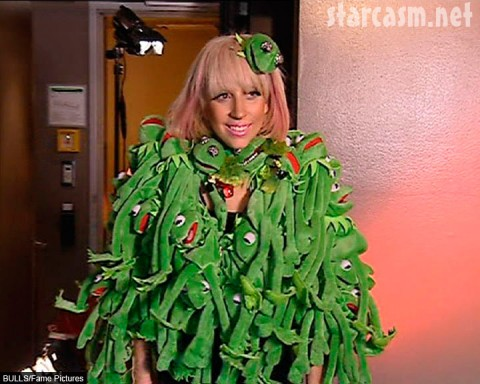 Lady GaGa and her Kermit the Frog coat