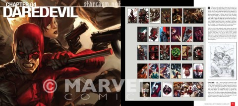 Daredevil chapter break from The Marvel Art of Marko Djurdjevic