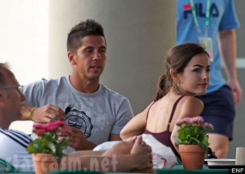 Camilla Belle and tennis pro Fernando Verdasco getting intimate over lunch