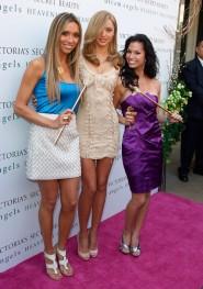 Miranda Kerr Melissa Rycroft and Giuliana Rancic at the launch of the Victoria's Secret perfume Heavenly Enchanted