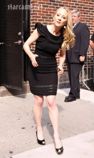 Anne Heche at Letterman 8-6-09 | Diane Cohen/Fame Pictures