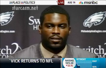 Michael Vick press conference after signing with the Philadelphia Eagles