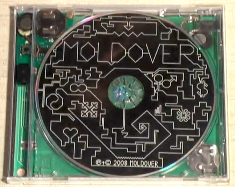 Moldover CD packaging that doubles as an electronic musical instrument