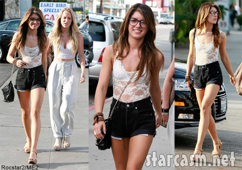 Shenae Grimes rocks a pair of Daisy Dukes in West Hollywood