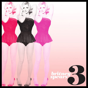 Britney Spears cover art for the single 3