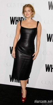Drew Barrymore wore a tight black leather dress to the Whip It premiere held at The Grauman's Chinese Theatre in Hollywood