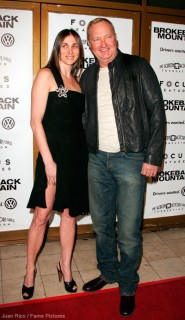 Evi Quaid and Randy Quaid at the premiere of Brokeback Mountain