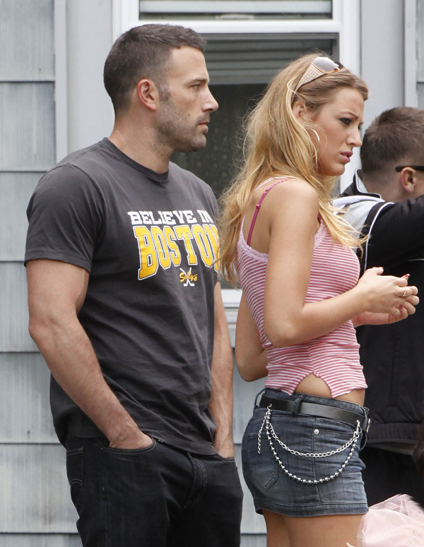 Blake lively the town scene