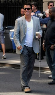 Mr. Big Chris Noth on the set of Sex and the City 2