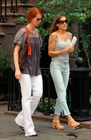 Sarah Jessica Parker and Cynthia Nixon on the set of Sex and the City 2