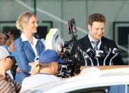 Seth Rogen and Cameron Diaz from the set of The Green Hornet, due to hit theaters December 17, 2010