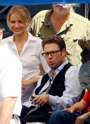 Seth Rogen from the set of The Green Hornet, due to hit theaters December 17, 2010