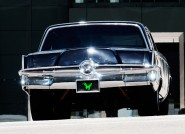 The car Black Beauty from the set of The Green Hornet, due to hit theaters December 17, 2010