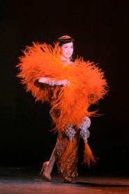 Dita Von Teese performs in her burlesque revue Gentry de Paris