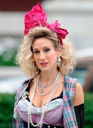Sarah Jessica Parker as Carrie Bradshaw as Madonna in a Sex and the City 2 80s flashback
