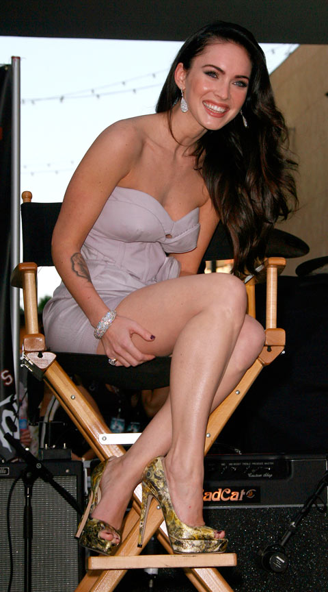 Megan Fox at a fan event in Hollywood promoting her movie Jennifer's Body