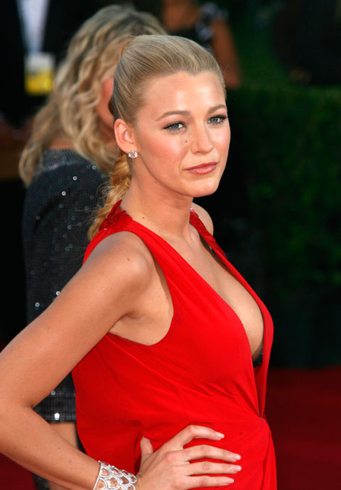 Blake Lively and her revealing outfit on the red carpet at the 2009 61st Annual Primetime Emmy Awards