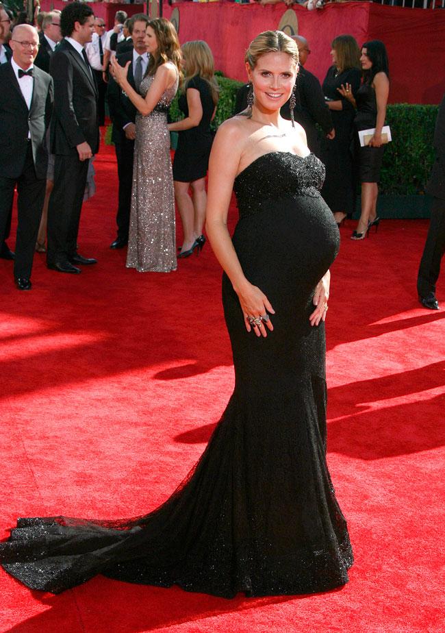 A very pregnant Heidi Klum on the 2009 61st Annual Primetime Emmy Awards red carpet