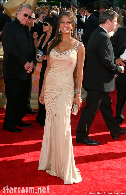Eva LaRue on the red carpet at the 2009 61st Prime Time Emmy Awards