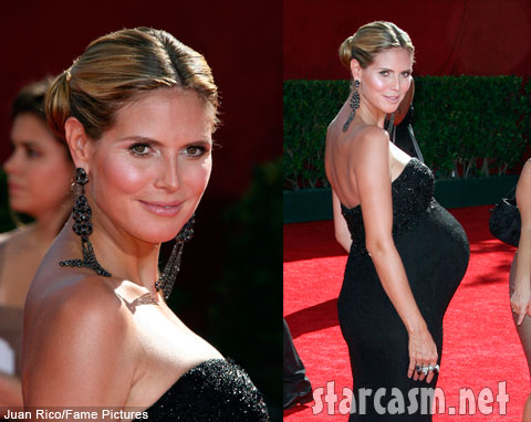 A very pregnant Heidi Klum on the 2009 61st Annual Prime Time Emmy Awards red carpet