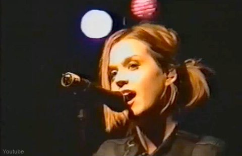 Katy Perry performing live as Katy Hudson at the Glass House in Pamona, California in 2001