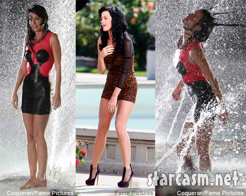Katy Perry gets wet and wild on the set of the 'Starstruck' video shoot