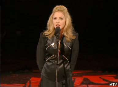 Madonna pays tribute to Michael Jackson at the 2009 MTV Video Music Awards VMA