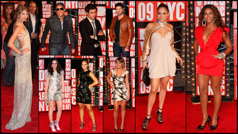 2009 MTV Video Music Awards red carpet photos VMA with Taylor Swift Beyonce and more