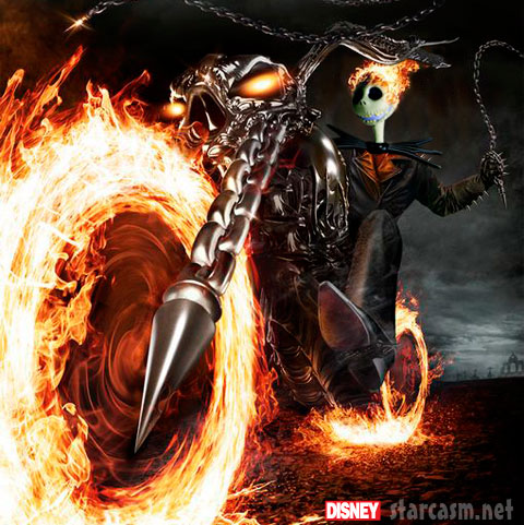 One of the crossover Disney Marvel movies in the works is Ghost Rider II: The Nightmare Before During and After Christmas
